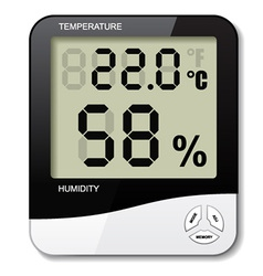 digital thermometer hygrometer humidity icon vector image vector image