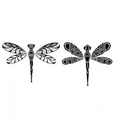 dragonfly tattoo design vector image