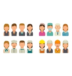 Set icon character cook builder business and vector image