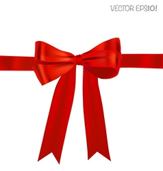 Shiny red ribbon vector image