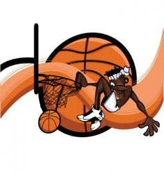 slam dunk abstract vector image vector image