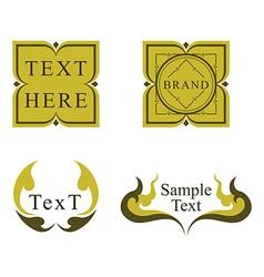 Thai label design vector image