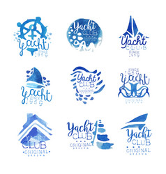yacht club sailing sports or marine travel vector image vector image