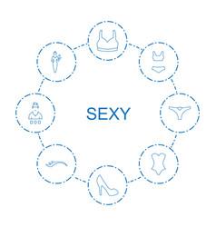 8 sexy icons vector