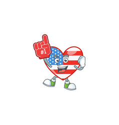 A independence day love holding foam finger vector