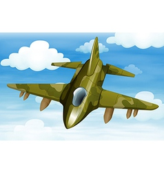 A military fighter jet vector image
