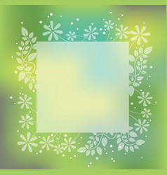 abstract square springtime frame vector image