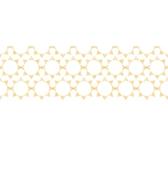 Abstract textile golden suns geometric horizontal vector
