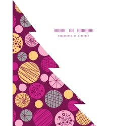 Abstract textured bubbles christmas tree vector