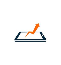 arrow finance business logo vector image