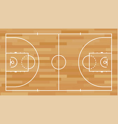 basketball field background vector image
