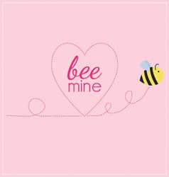 Bee mine heart vector image