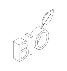 Bio icon isometric 3d styl vector image