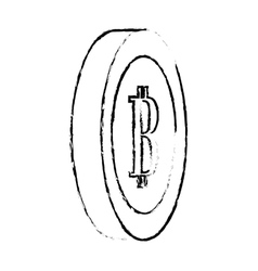 Bitcoin image digital cash symbol vector