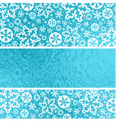 blue glossy christmas background with white vector image