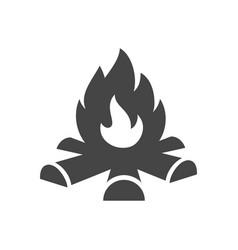 Bonfire bold black silhouette icon isolated vector