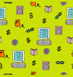 bright seamless pattern for traders and brokers vector image