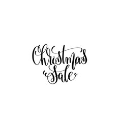 christmas sale hand lettering inscription vector image