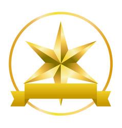 christmas star cartoon vector image