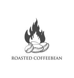 coffee bean logo isolated vector image