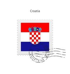 Croatia flag postage stamp vector