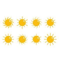 cute sun cartoon style vector image