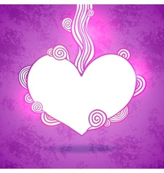Doodle heart Valentines day vector image