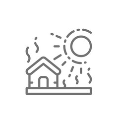 drought natural disaster catastrophe line icon vector image