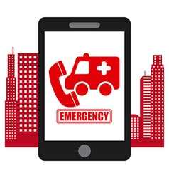emergency concept vector image