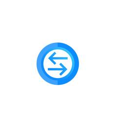 Exchange convert round icon vector