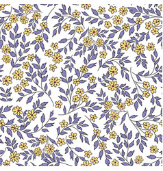 floral seamless pattern with flowers and vector image