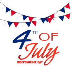 fourth of july independence day flag background ve vector image