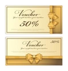 Gift voucher template layout vector