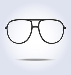 glasses icon symbol on gray color background vector image