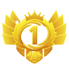 Golden award 1st place crown avatars for game ui vector