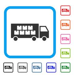 goods transportation truck framed icon vector image