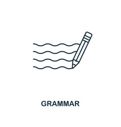 grammar outline icon creative design from school vector image