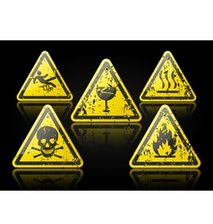 Grunge danger sign vector