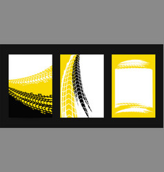 Grunge tire posters vector