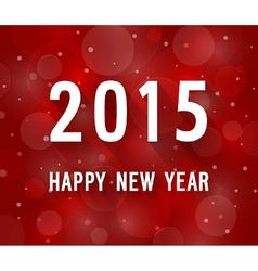Happy new year 2015 creative paper greeting card vector