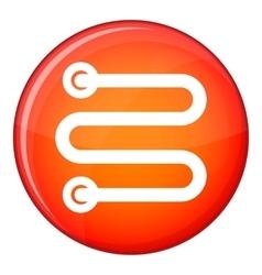 Heated towel rail icon flat style vector