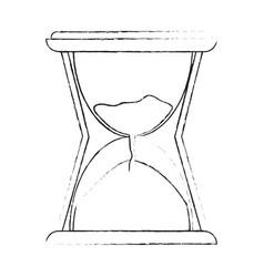 hourglass vintage clock vector image