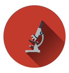 Icon of chemistry microscope vector
