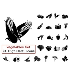 Icon set vegetables vector