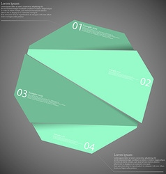 Infographic template with blue octagon randomly vector image