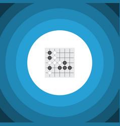 Isolated renju flat icon gomoku element vector