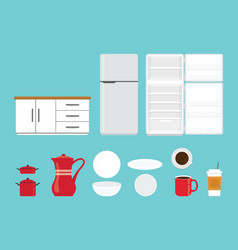 kitchen tools set collection with various shape vector image