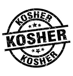 Kosher round grunge black stamp vector
