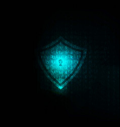 lock abstract blue futuristic english code vector image