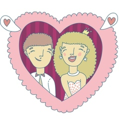Love couple hand-drawn vector
